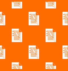 document with plan and pen pattern seamless vector image
