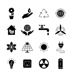 ecology and energy icons universal icon to vector image