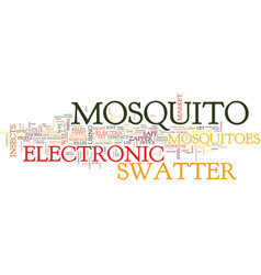 Electronic mosquito swatter text background word vector