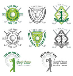 elegant golf club logos vector image