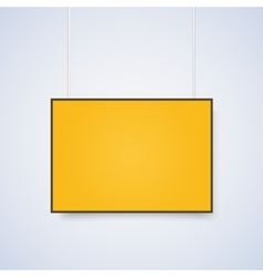 Empty yellow A4 sized paper mockup vector image