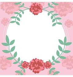 Flower and leaf frame background vector image vector image