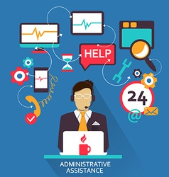 Freelance career administrative assistance vector image
