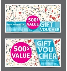Gift voucher certificate coupon vector