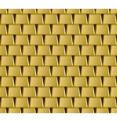 Golden bar stack seamless pattern vector image