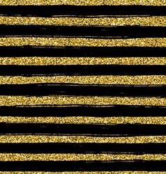 Golden glitter texture line on black background vector