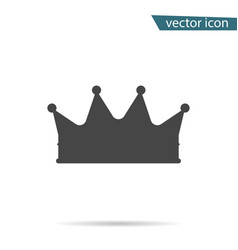 gray crown icon isolated on background modern sim vector image