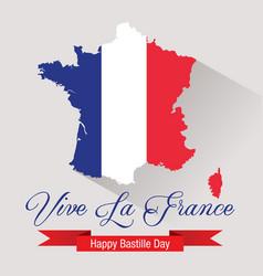 happy bastille day celebration banner vector image