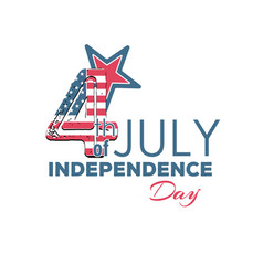 happy independence day - fourth of july vector image