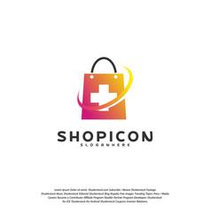 health plus shop logo template design vector image