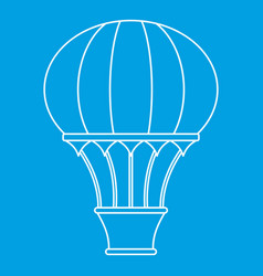 Hot air balloon with basket icon outline style vector