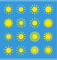 icons sun set vector image