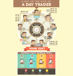 Infographics business man daily life routine vector