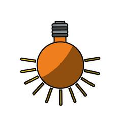 Isolated lighting bulb vector