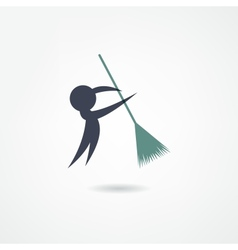 janitor icon vector image