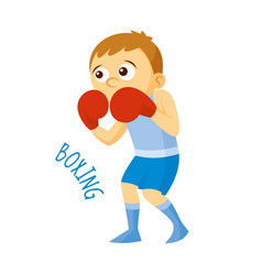 Kinds of sports athlete boxing vector