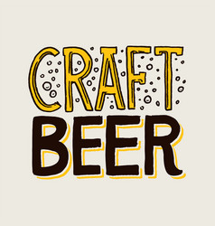 Label craft beer template emblem or logo with vector