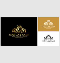 Letter c logo design luxury gold vector