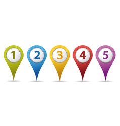 Location number pins vector