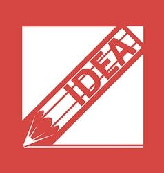 Logo pen with the inscription idea vector image