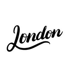 London hand written lettering typography vector image