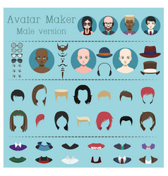 male avatar maker vector image