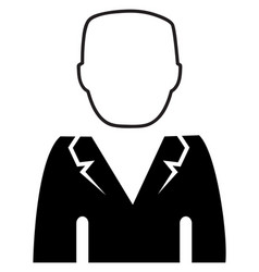 man in business suit as user icon vector image