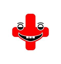 Medical logo icon face vector