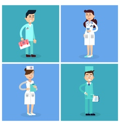 Medical Staff Nurse and Doctor Hospital vector image