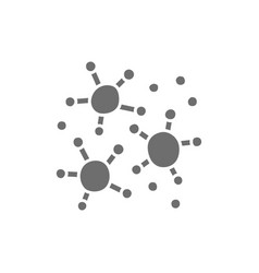 Microbes bacteria grey icon isolated on white vector