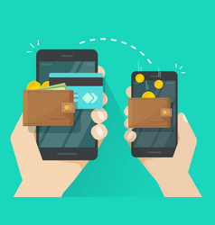money transfer via mobile phone vector image