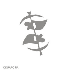 Monochrome icon with adinkra symbol okuafo pa vector