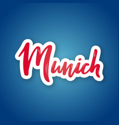 Munich - hand drawn lettering name vector