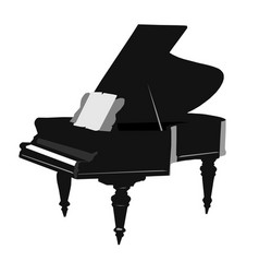 Old vintage grand piano of the 19th century vector