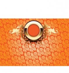 ornate wallpaper vector image