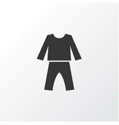 Pajamas icon symbol premium quality isolated vector