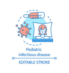 Pediatric infectious disease concept icon vector