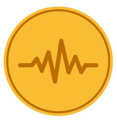 Pulse signal gold coin vector