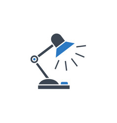 Reading-lamp related glyph icon vector