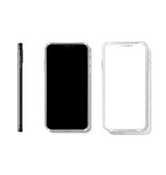 Realistic smartphone mock up 3d design vector