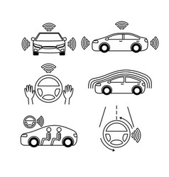 Remote sensing system of smart car vehicle front vector