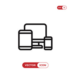 responsive web design icon vector image