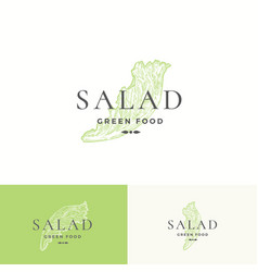 Salad lettuce abstract sign symbol or logo vector