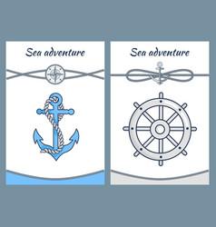 sea adventure color posters vector image