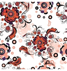 Seamless abstract floral pattern 3 vector image