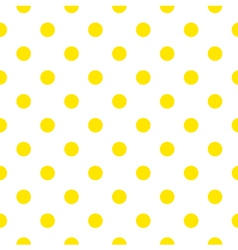 Seamless pattern or background with yellow dots vector image