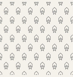 Seamless pattern with arrows motif vector