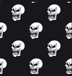 seamless pattern zombie vector image