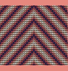 seamless violet corner knitting pattern vector image