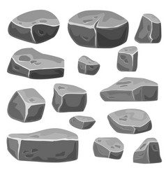 Set of stones for game art vector